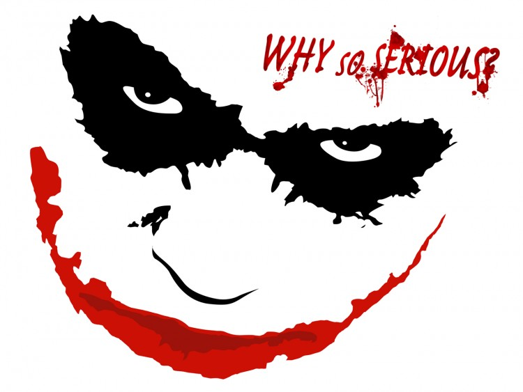 Fonds d'écran Cinéma Batman - The Dark Knight joker face