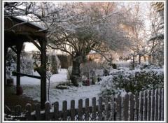 Fonds d'écran Nature Jardin sous la neige.