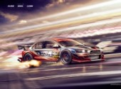 Wallpapers Digital Art DTM Mitsubishi EVO