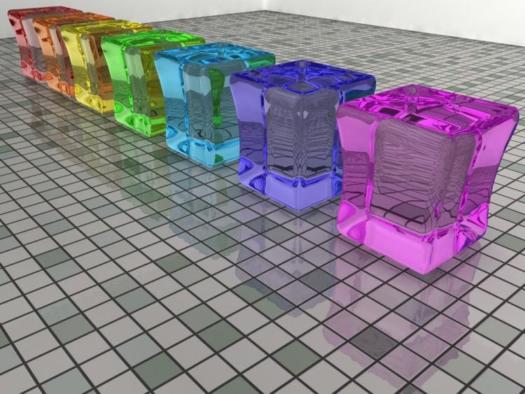 Fonds d'écran Art - Numérique 3D - Divers Blocks of glass