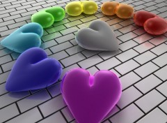 Wallpapers Digital Art Hearts