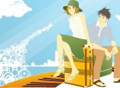 Fonds d'écran Manga go to paris