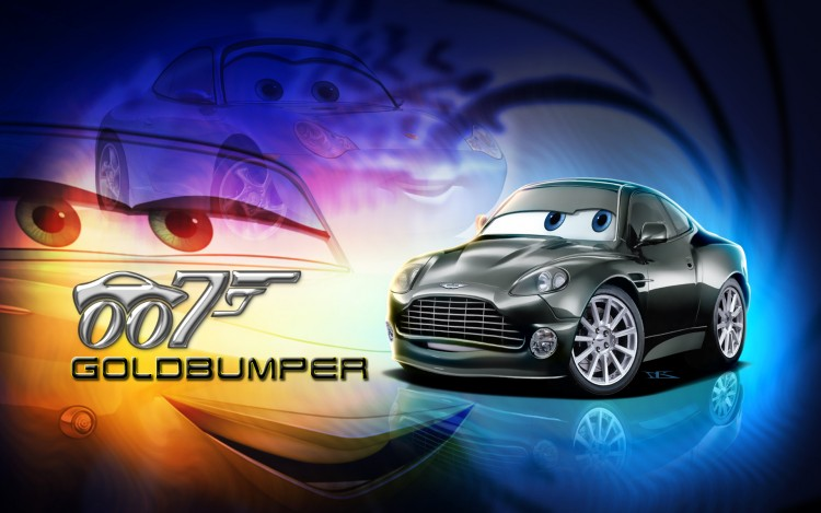 Wallpapers Cartoons Cars 1 and 2 Goldbumper