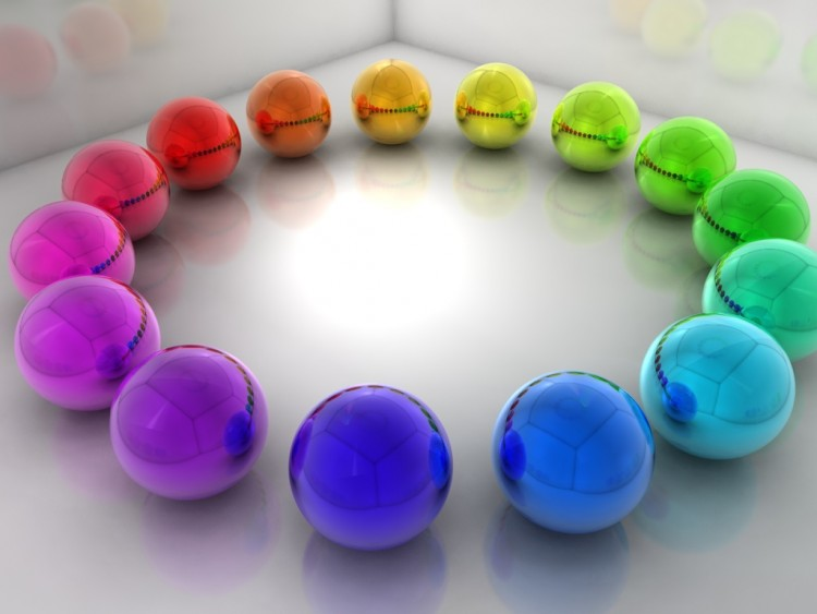 Wallpapers Digital Art 3D - Various Rainbow Ballz