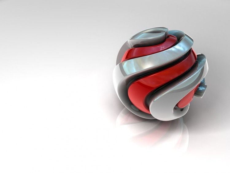Wallpapers Digital Art 3D - Various Spiral Ball