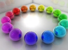 Wallpapers Digital Art Rainbow Ballz