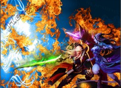 Wallpapers Video Games WoW Blood Elf vs Draenei