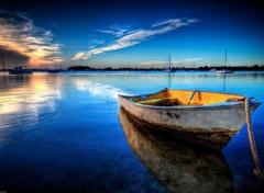 Fonds d'écran Bateaux Barque dans la grande bleue