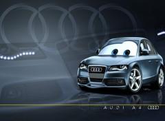 Fonds d'�cran Dessins Anim�s Pixarized Audi A4