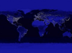 Wallpapers Space Cities Lights Of The World, Satellite Image