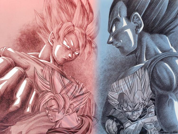 Wallpapers Manga Dragon Ball Z Son Goku VS Vegeta