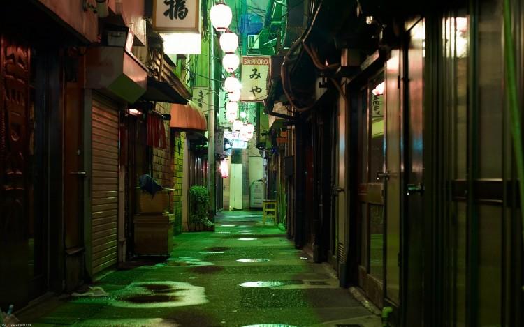 Fonds d'écran Voyages : Asie Japon Ruelle sous les lampions