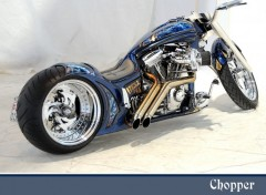Wallpapers Motorbikes Chopper bleu