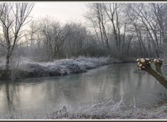 Fonds d'écran Nature Hiver sur les Marais d'Isle à Saint-Quentin (02)