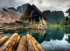 Fonds d'écran Constructions et architecture Maisons et bambous