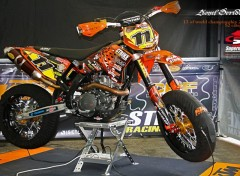 Fonds d'écran Motos The KTM 450 SM / Motor 520 CC by Lionel Deridder. World Championship 2008.