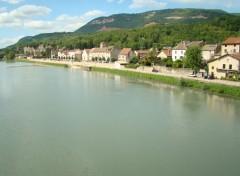 Fonds d'écran Nature Sault Brenaz (AIN) vue du pont sur le Rhône