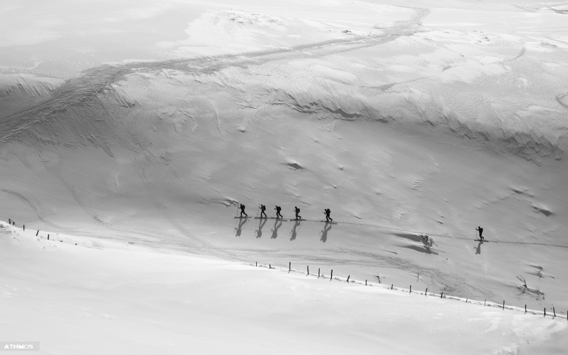 Wallpapers Sports - Leisures Ski File glacée