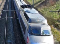 Fonds d'écran Transports divers TGV bleu