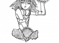 Wallpapers Art - Pencil pom pom girl