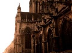 Wallpapers Constructions and architecture Les entrailles de Caen : L'église penchée