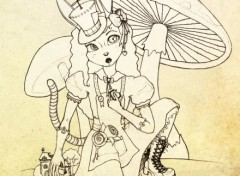 Fonds d'écran Art - Crayon Alice'Mix