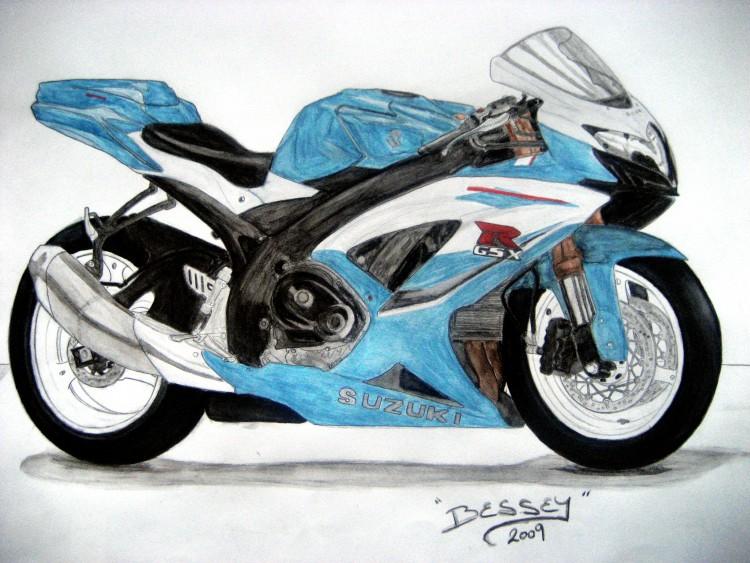 Fonds d'écran Art - Crayon Voitures et Motos Suzuki GSXR 600