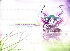Fonds d'écran Manga K-ON! Akiyama Mio