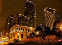Fonds d'écran Voyages : Amérique du nord Chicago de nuit