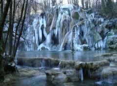 Wallpapers Nature cascade des planches en hiver