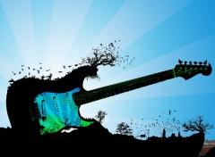 Fonds d'écran Musique île - Guitare