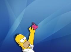 Fonds d'écran Dessins Animés Homer & Apple