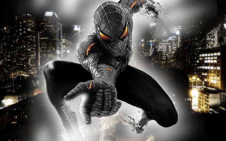 Fonds d'écran Comics et BDs Spider Man Spider man black