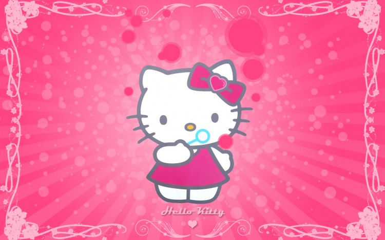 fond d'ecran anime hello kitty