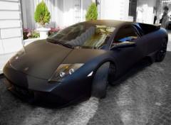 Wallpapers Cars Lamborghini noir Mat