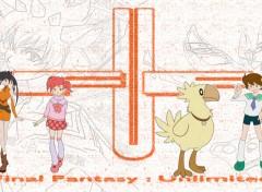 Fonds d'écran Manga Final Fantasy Unlimited personnages principaux