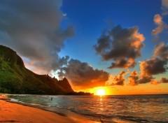 Fonds d'écran Nature Soleil sur la plage