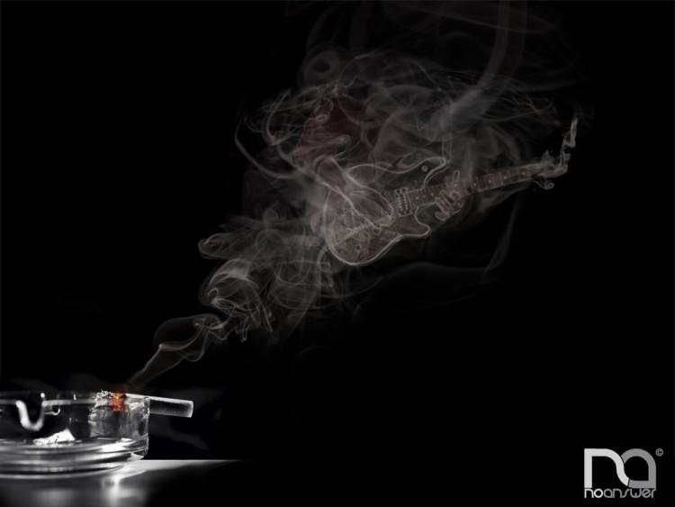 Wallpapers Music Instruments - Guitares Rock Smoke