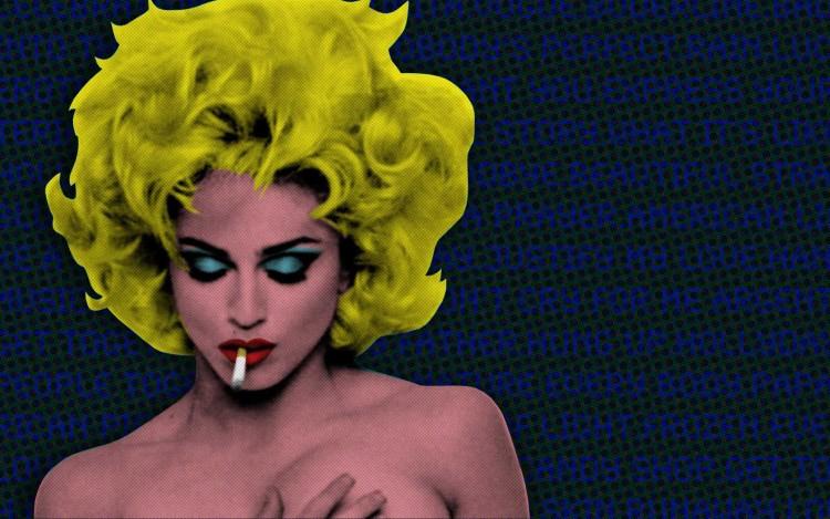 Fonds d'écran Musique Madonna Smoking Madonna