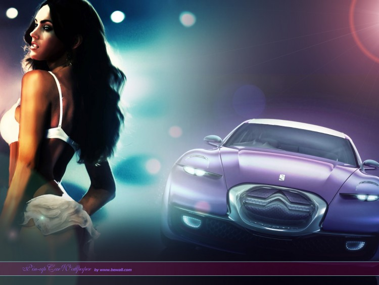Wallpapers Cars Girls and cars Pin-up car citroen 2009 concept by bewall.com