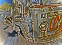 Fonds d'écran Art - Numérique fourgonette wollswagen