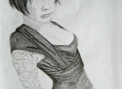 Wallpapers Art - Pencil Akemi - suicide girl
