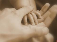 Fonds d'�cran Hommes - Ev�nements main de b�b� dans une main d'homme