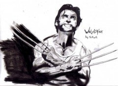 Wallpapers Art - Pencil wolverine