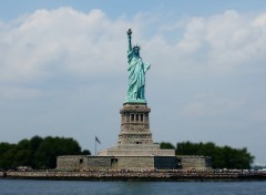 Wallpapers Trips : North America Liberty Island - Effet Bokeh