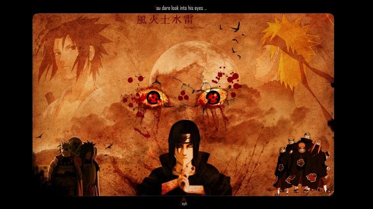 Fonds d'écran Manga Naruto Sharingan Tears