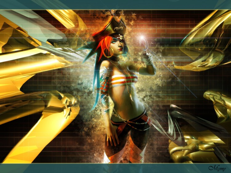 Wallpapers Fantasy and Science Fiction Pirates Wall Pirate Girl