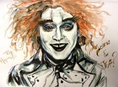 Fonds d'écran Art - Peinture Johnny Depp Chapelier Fou Mad Hatter