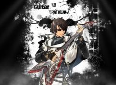 Wallpapers Manga Guitar Black and White