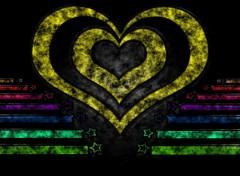 Fonds d'écran Art - Numérique coeur amour arc en ciel et étoile